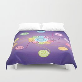 blue spiral v2 Duvet Cover