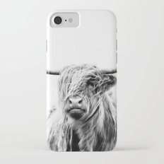 portrait of a highland cow Slim Case iPhone 7
