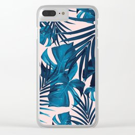 Tropical Jungle Leaves Pattern #6 #tropical #decor #art #society6 Clear iPhone Case