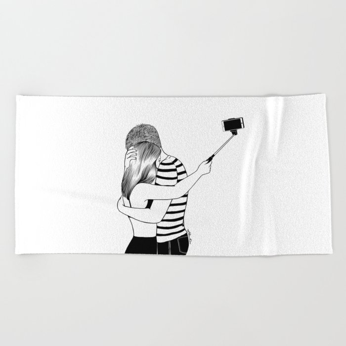 Do I love you or Do I just love me in love Beach Towel