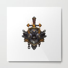 Warrior Sigil Metal Print