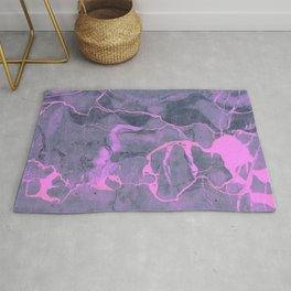 Grey and Pink Marble Rug