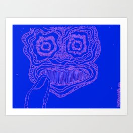 Mask #2: Thoughtful Color Art Print