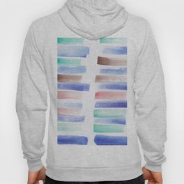 22  | 181101 Watercolour Palette Abstract Art | Lines | Stripes | Hoody