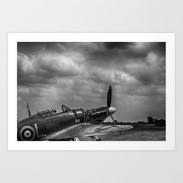 Covers Off 2 Black and White Art Print