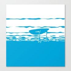 Partly Ducky Canvas Print