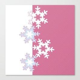 New year , snowflakes Canvas Print