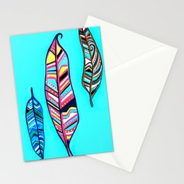 Three Feathers Stationery Cards