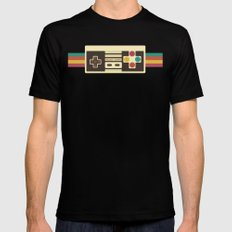 Retro Video Game 2 Mens Fitted Tee Black MEDIUM