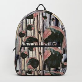 Raven rising against a pink sunset Backpack
