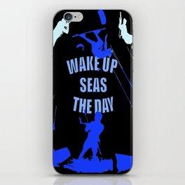 Wake Up Seas The Day Kiteboarder Royal Blue iPhone Skin