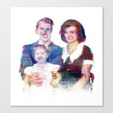 We're a Happy Family Canvas Print