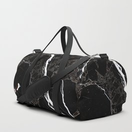 Abstract black white gray modern marble Duffle Bag
