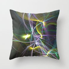 The Curves of Symbiotic Frequencies Traveling To Their Respective Destinations Only Compressed Throw Pillow