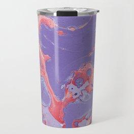 Rose & purple paint Travel Mug