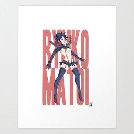 Ryuko Matoi: Pin Up Art Print