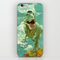 dino iPhone & iPod Skins featuring Dino by Edith Waddell