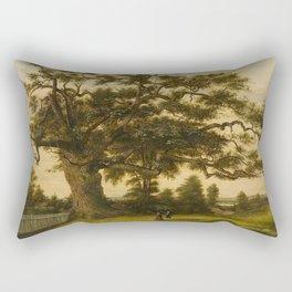 The Charter Oak - Connecticut by Charles De Wolf Brownell Rectangular Pillow
