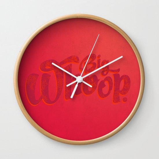 Big Whoop Wall Clock