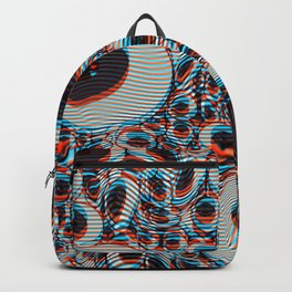 Trippy Eyes on loop Backpack