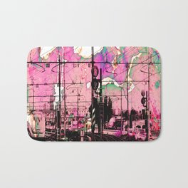 All About the Journey, Abstract Grunge Train Bath Mat