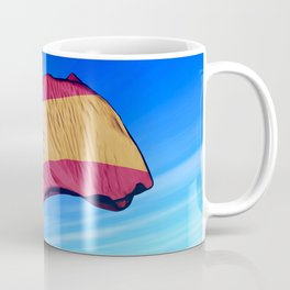 Spain flag waving on the wind Coffee Mug