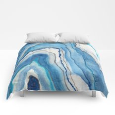 AGATE Inspired Watercolor Abstract 02 Comforters