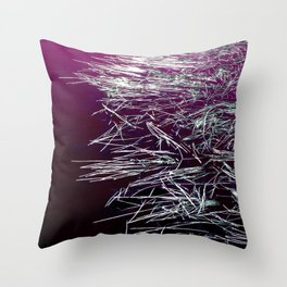Purple Lake & Silver Reeds Throw Pillow