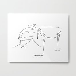 Appassionato - To Play with Love Metal Print