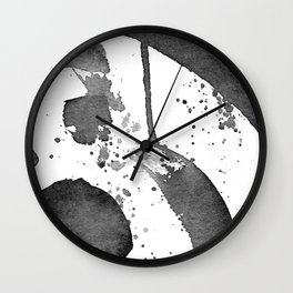 Minimal Brushstrokes Abstract Painting Wall Clock