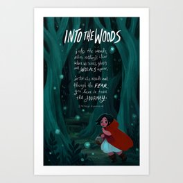 Into the Woods Art Print
