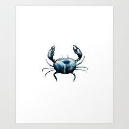 crab -watercolor Art Print