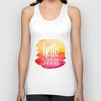 xbox Tank Tops featuring Hello Summer by Text Guy