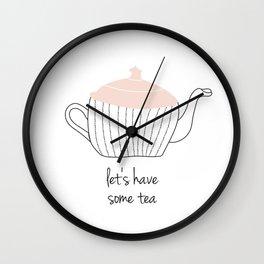 Tea Print Wall Clock