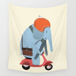 the elephant mobile Wall Tapestry