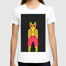 Leopard in Dungarees - Cool for Cats! T-shirt