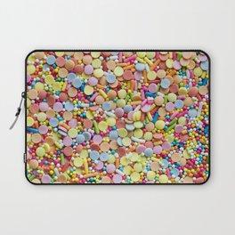 Rainbow Candy Sprinkles Art Laptop Sleeve