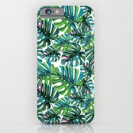 Elephant Tropical Leaves Pattern iPhone Case