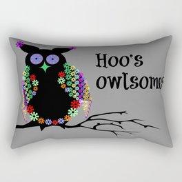 Hoo's owlsome? Rectangular Pillow