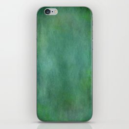 Looking into the depths of green iPhone Skin