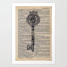 key vintage #1 Art Print