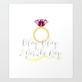 Bride For Wedding - Bride To Be Art Print