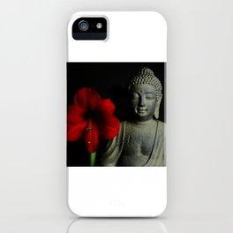 Amaryllis Buddha 2 iPhone Case