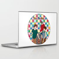blues brothers Laptop & iPad Skins featuring New Blues Brothers by Vasina Reginiano