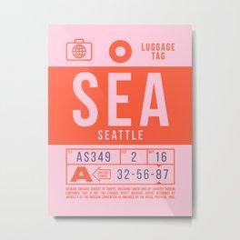 Luggage Tag B - SEA Seattle Tacoma USA Metal Print