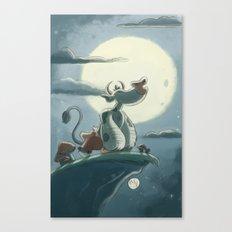 Goblins Drool, Fairies Rule! - Full Moon Moo Canvas Print