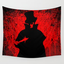 Jack the Ripper Blood Background Wall Tapestry