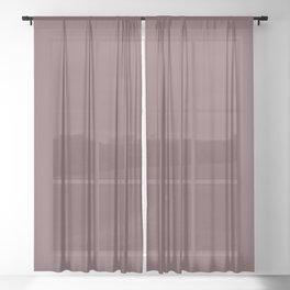 Mauve Sheer Curtain