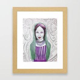 Swirl, all around me. Framed Art Print