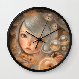 Deep Breath Wall Clock